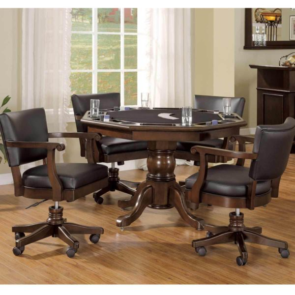 "Legacy 48"" Classic 2 in 1 Games Table w/4 lift/tilt chairs"