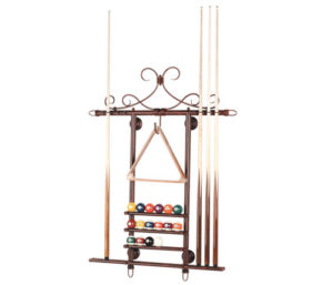 Wall Cue and Ball Rack Metal