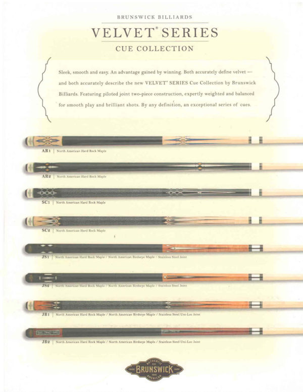 New Velvet Series Cue Collection