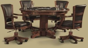 "Legacy 54"" Elite 2 in 1 Games Table w/ 4 lift/tilt chairs"
