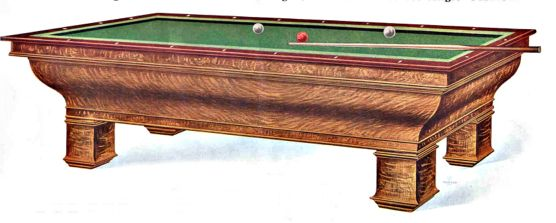 Antique Warwick Carom Billiard Table - Carom pool table